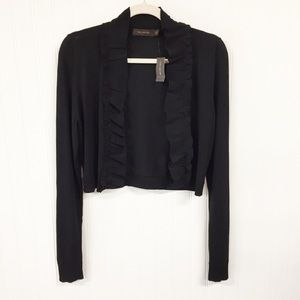 NWT The Limited Ruffle Trim Cropped Knit Cardigan